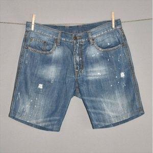 Buffalo David Bitton Shorts - BUFFALO DAVID BITTON Roll Up Bermuda Jean Short